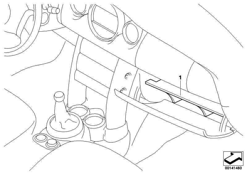 Handschuhfach, Unterteiler LHD MINI  (51110416593)