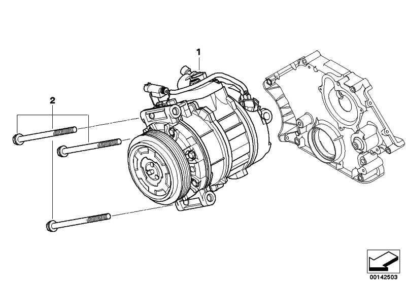 Satz Alu-Schrauben Klimakompressor  1er 3er 5er 6er 7er X1 X3 X5 Z4  (64550392602)