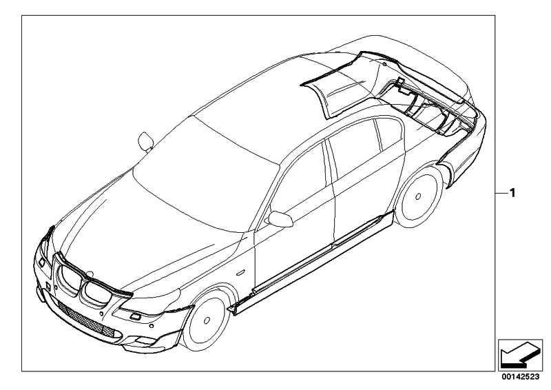 Nachrüstsatz M Aerodynamikpaket grund. PDC             5er  (51710396684)