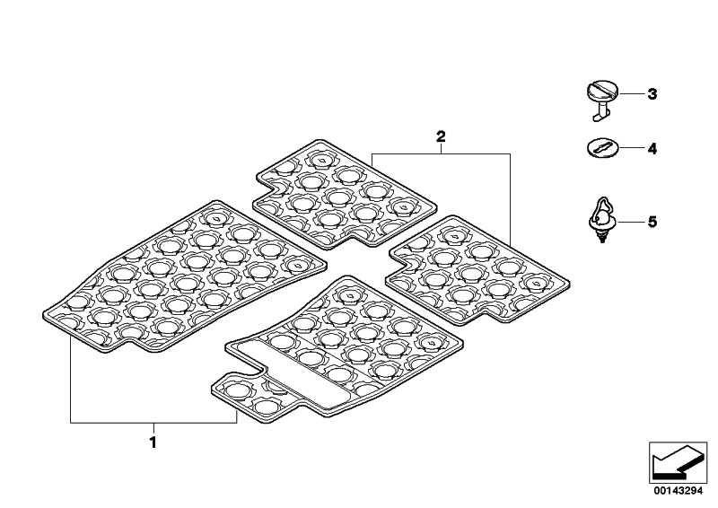 Fussmatten Gummi R50, SCHWARZ    MINI  (51470010576)