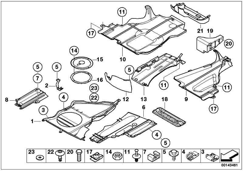 Unterbodenverkleidung  3er  (51717039443)