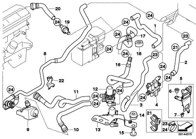 Schlauch Umschaltventil-Motorrücklauf  X5  (64216939159)