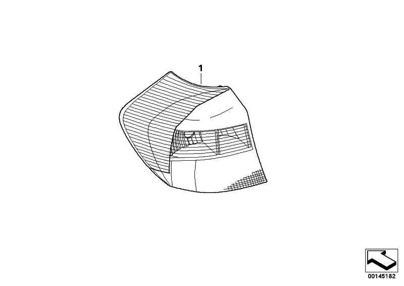 Heckleuchte Seitenwand rechts LOW VERSION     1er  (63210432622)