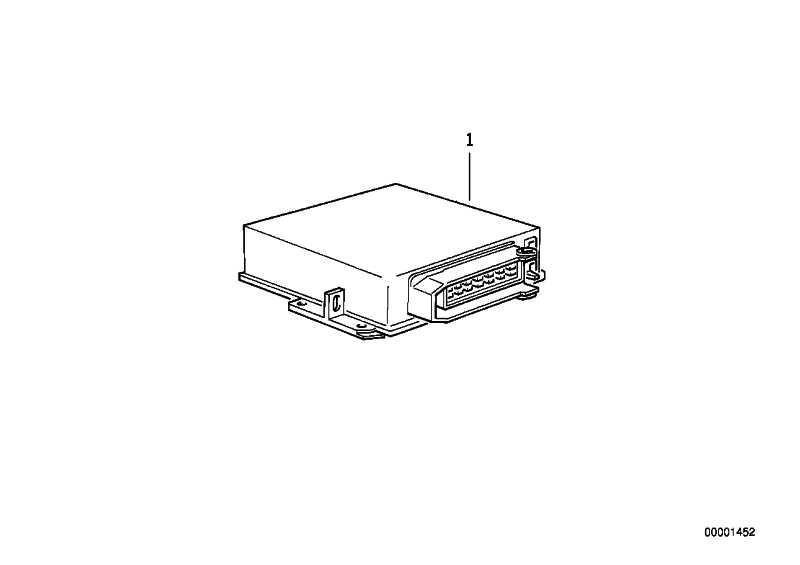 AT-Steuergerät Motronic M.1.7           3er  (12140028567)