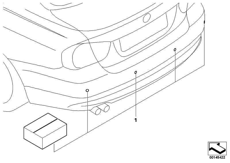 Satz Aufnahme PDC-Sensor hinten  3er  (51127213859)