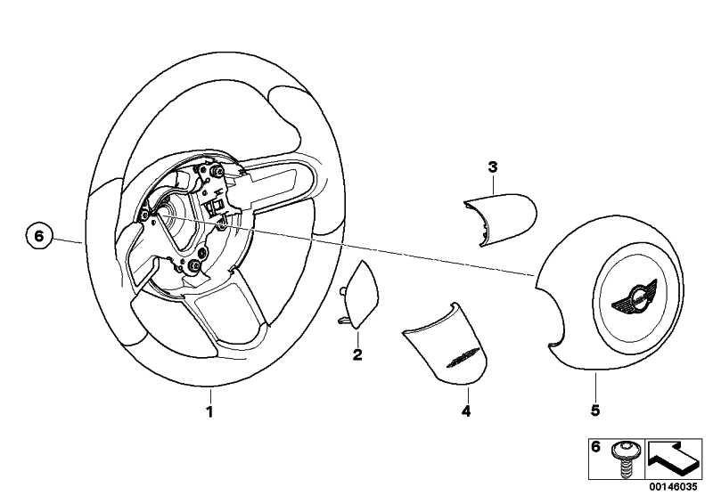 Blende Sportlenkrad Carbon Mitte J. COOPER WORKS MINI  (32300403582)