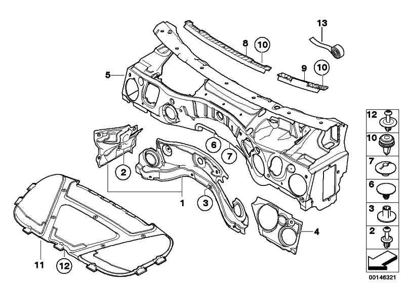Schallisolierung Stirnwand Motorraum Li.  1er 3er X1  (51487059345)