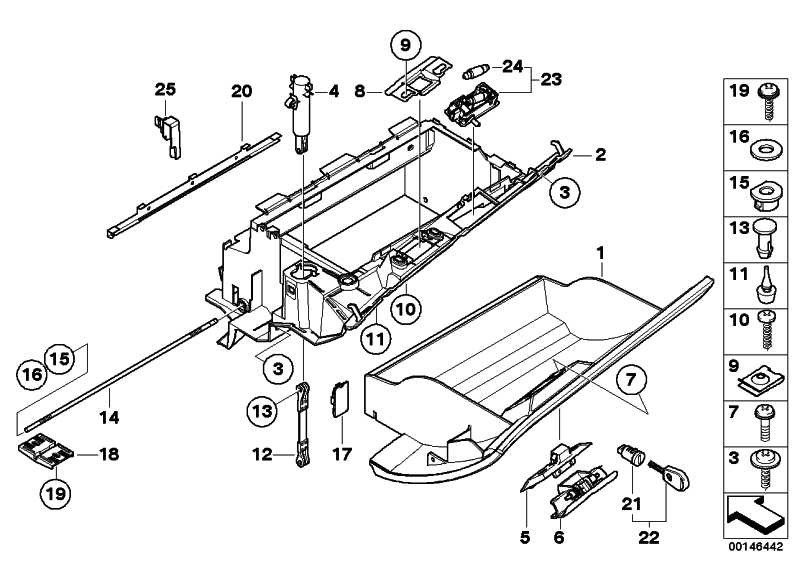 Kabelblende Airbagschalter  X3  (51163415142)