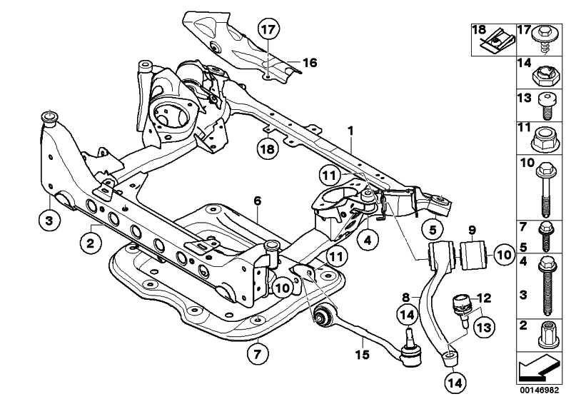 Druckstrebe mit Gummilager links  3er X1  (31126768983)