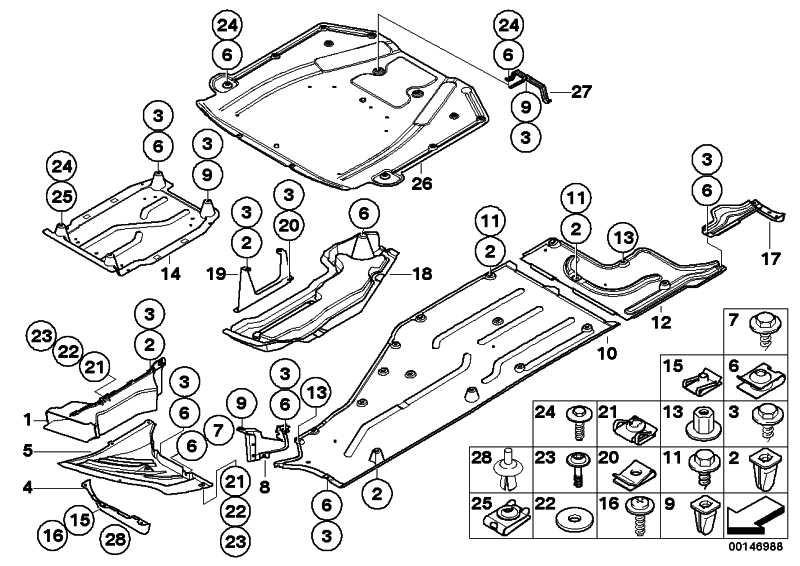Unterbodenverkleidung Getriebe  7er  (51757146629)