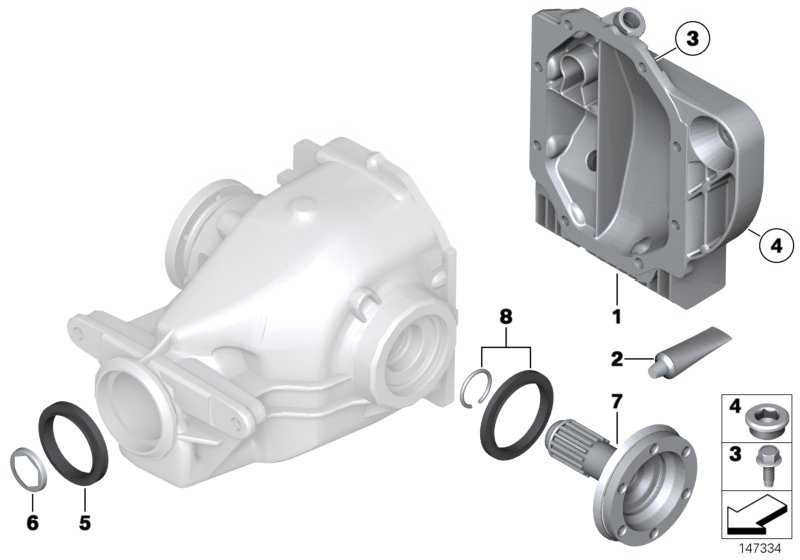 Dichtungssatz Hinterachsgetriebe TYP 215 / 235 1er 2er 3er 4er 5er 6er 7er X5 X6  (33107568368)