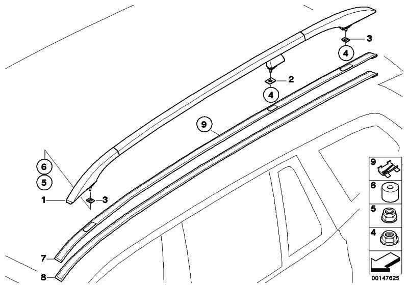 Zierleiste Dach grundiert rechts  X3  (51133413248)
