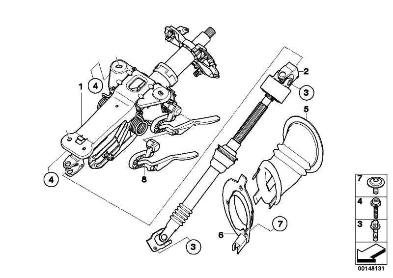 Lenksäulenverstellung mechanisch  5er  (32306788840)