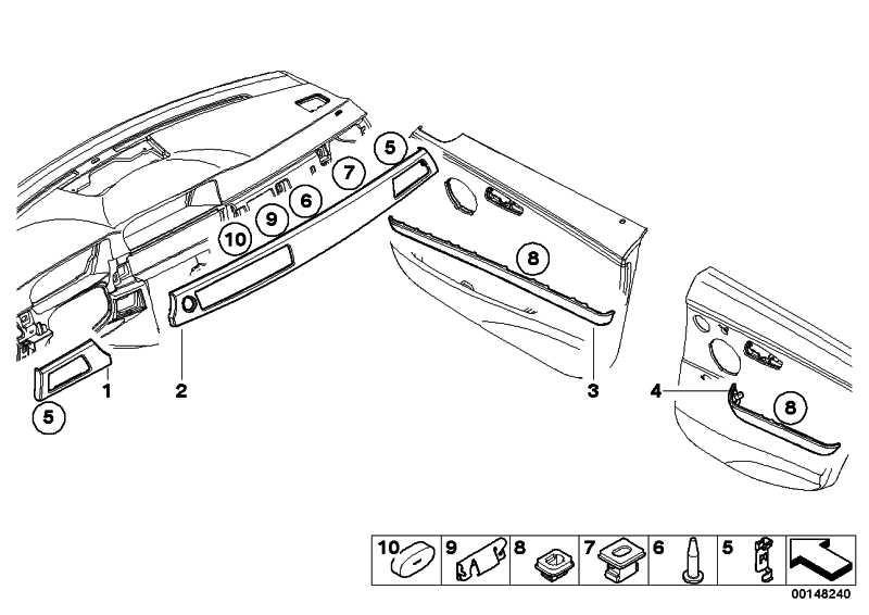 Dekorleiste Tür Aluminium vorne links  3er  (51416982471)