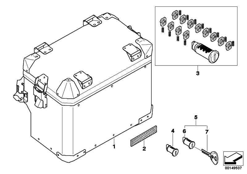 Schlössersatz Koffer/Top Case   (51257696170)