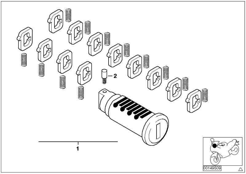 Reparatursatz Schliesszylinder   (51257698204)