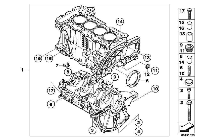 Zylinder-Kurbelgehäuse mit Kurbeltrieb  MINI  (11110445412)