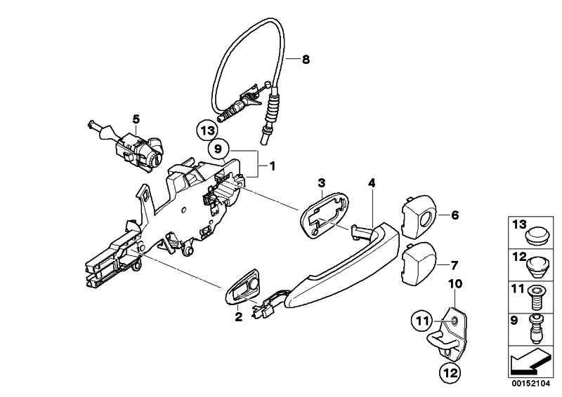 Unterlage Schliesszylinder links  1er 3er 4er X1 X3 X5 X6  (51217060667)