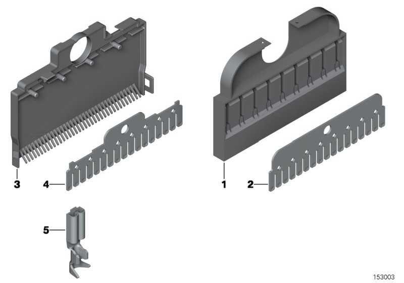 Flachsteckkontakt Kammverbinder 0,35-0,5 MM²    1er 3er 5er 6er 7er X1 X3 X5 X6 Z3 Z4 Z8 MINI  (61131387140)