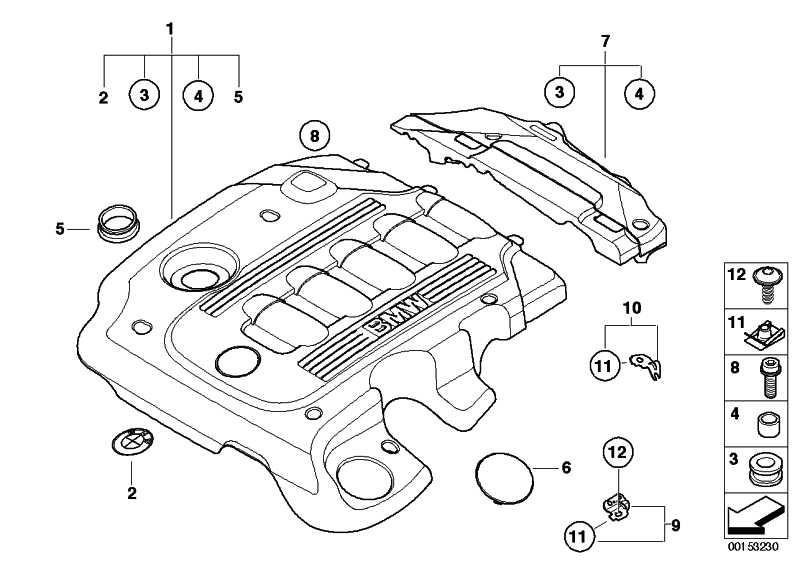 Abdeckung Akustik hinten  X3 3er 5er 6er  (11147807246)