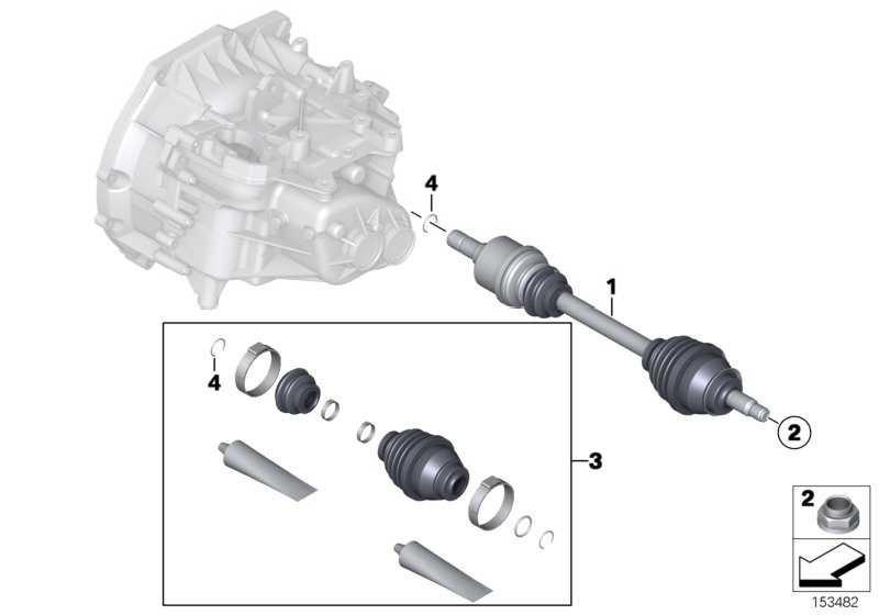 Abtriebswelle links  MINI  (31608605467)