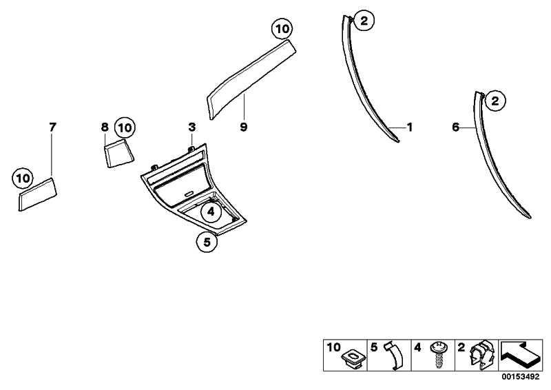 Funktionsträger I-Tafel unten Aluminium LÄNGSSCHLIFF    X3  (51453436481)