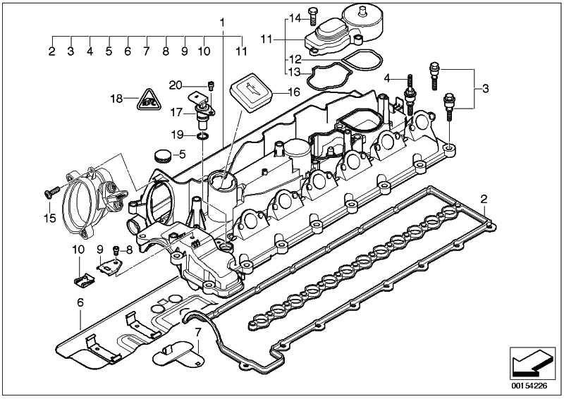 Zylinderkopfhaube  3er 5er 7er X3 X5 X6  (11127807999)