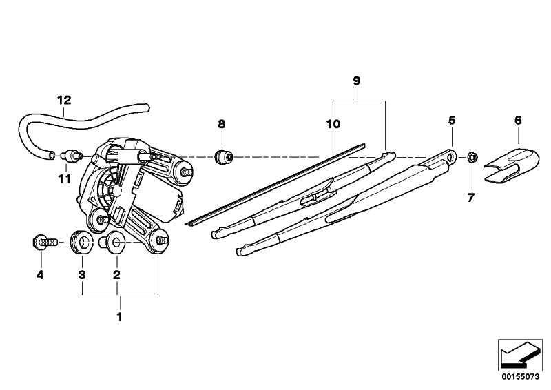 Tülle für Wischermotor Heckscheibe  X3 X5 MINI  (61627129283)
