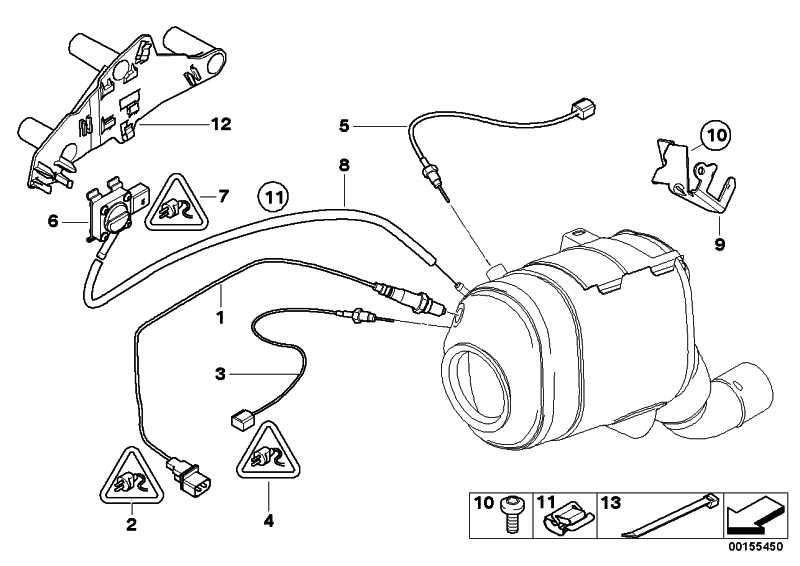 Sensor Abgasdruck  1er 3er 5er 6er 7er X1 X3 X5 X6 MINI  (13627805152)