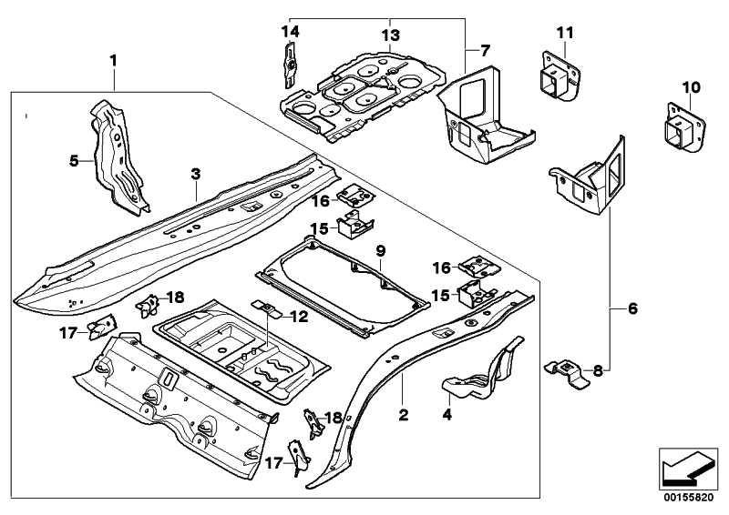 Gepäckraumboden links  3er  (41117145311)