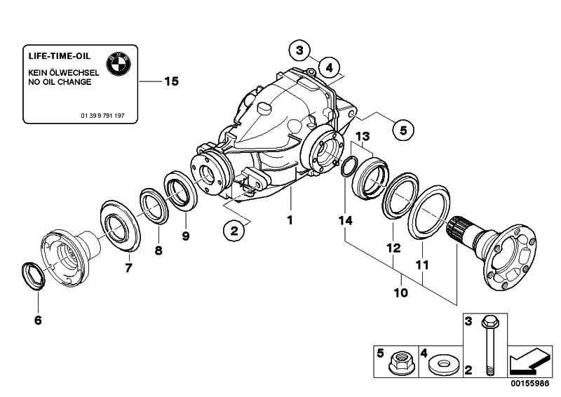 Austausch Hinterachsgetriebe I=3,46          Z4  (33107564160)
