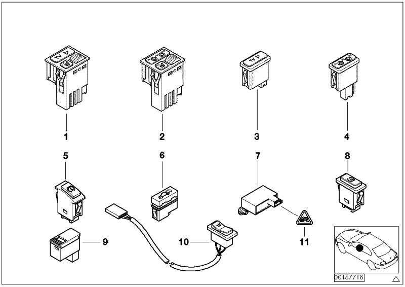Schalter automatische Heckklappe  5er 7er X5 X6  (61318375580)