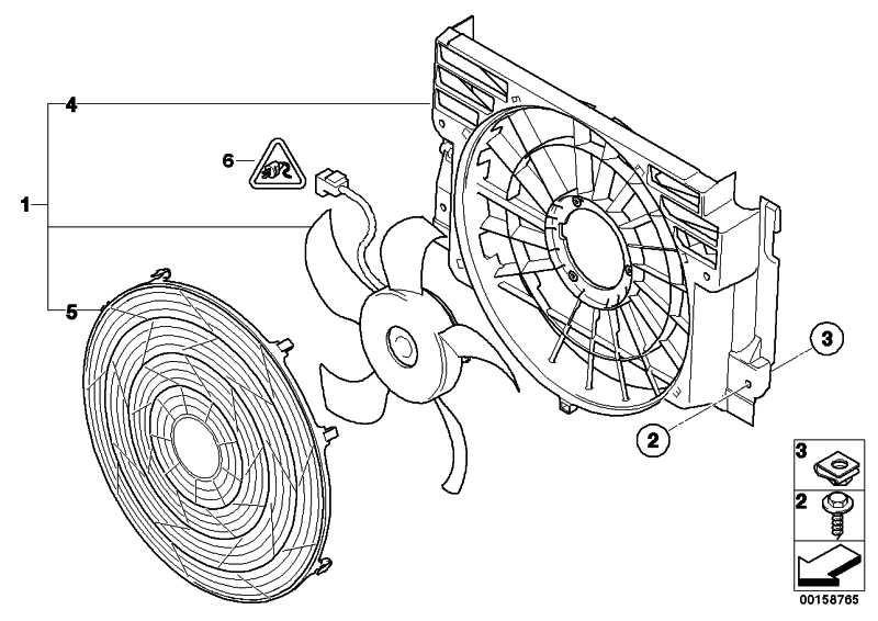 Druckzarge mit Lüfter  X5  (64546921381)