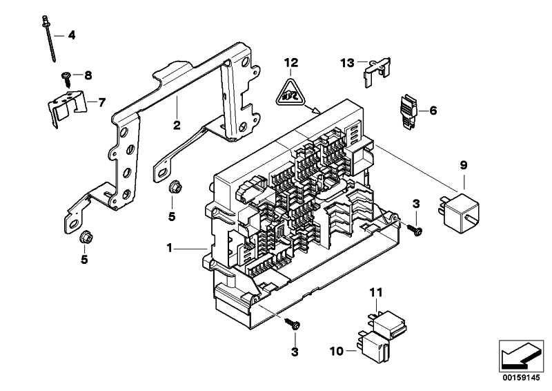 Stromverteiler vorne  1er 3er X1  (61149119445)
