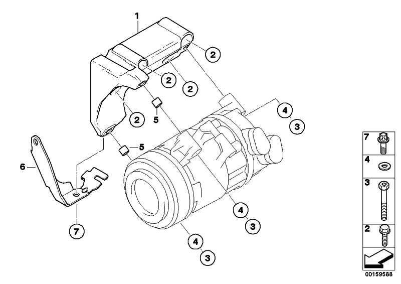 Lagerbock Klimakompressor  3er Z4 X3 1er 5er X1  (64557505980)
