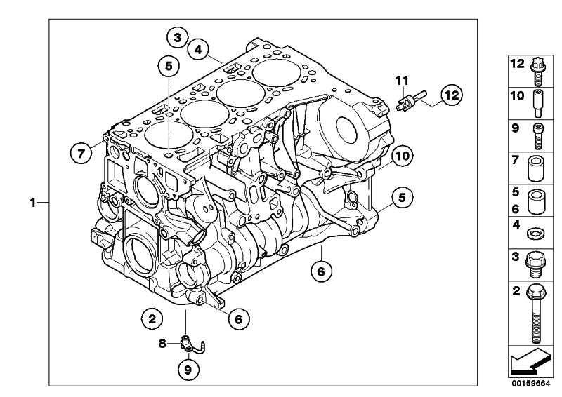 Zylinder-Kurbelgehäuse mit Kolben  1er 3er 5er X3  (11112179680)