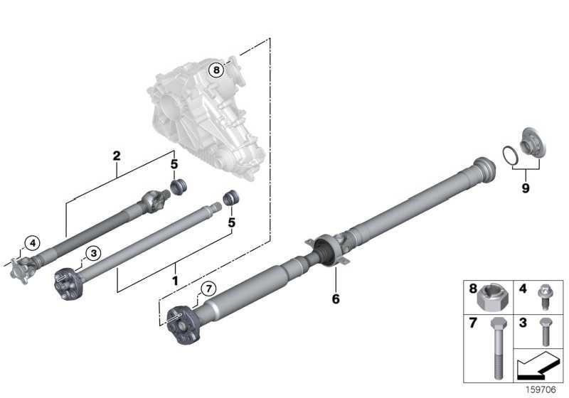 Gelenkwelle vorn L=709MM X5 X6  (26208605866)