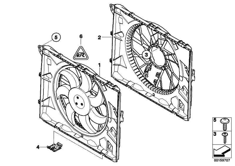 Lüfterzarge mit Lüfter 300W 1er 3er X1  (17427563259)