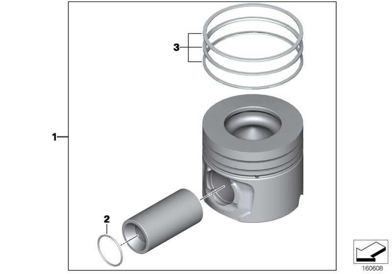 Reparatursatz Kolbenringe (+0,25)         1er 3er 5er X1 X3  (11257807291)