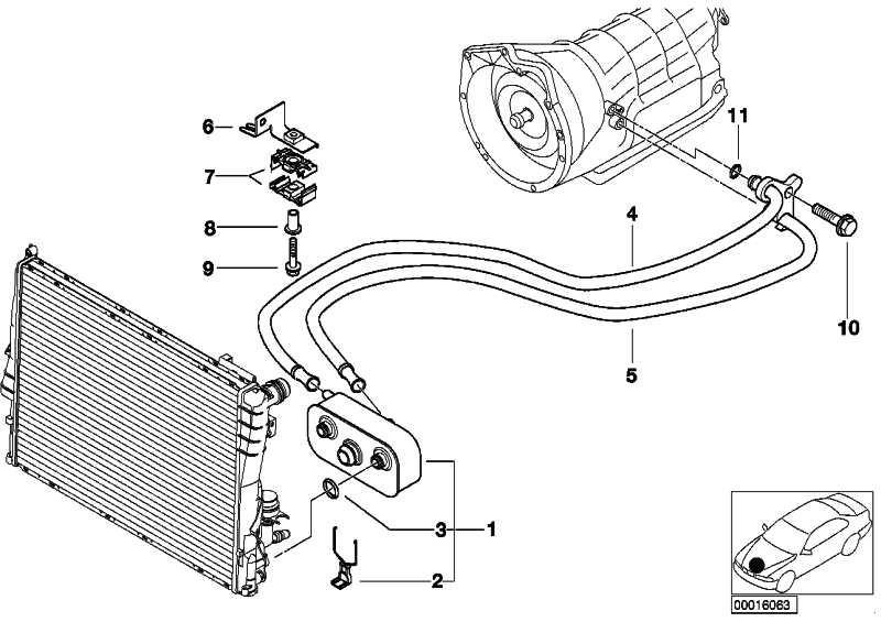 Ölkühlerleitung Rücklauf A5S 325Z        3er  (17227577672)