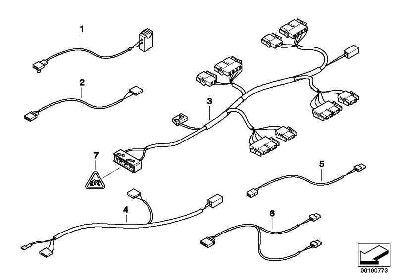 Kabelsatz Sitzheizung  3er  (61116903734)