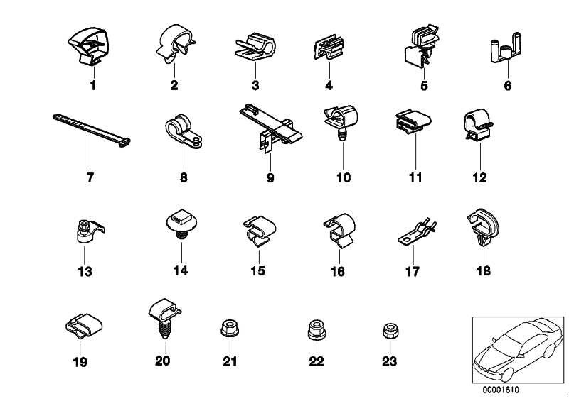 Kabelhalter D=16,7MM        6er 7er 8er X3 Z3  (61131369668)