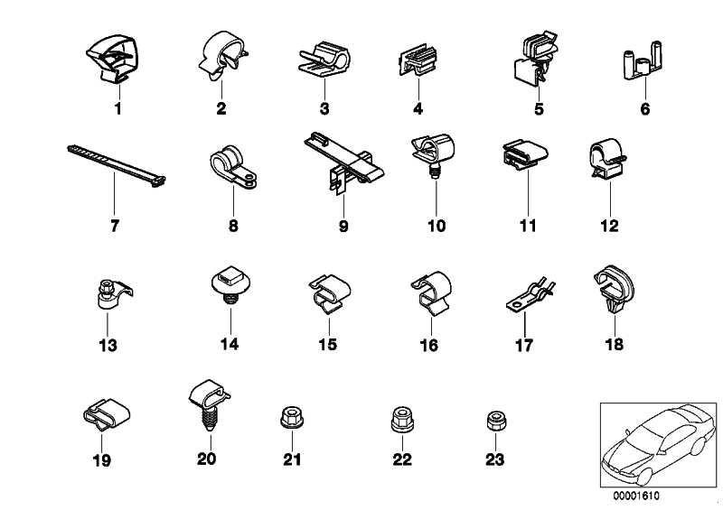 Kabelhalter  3er 5er 6er 7er 8er X1 X5 Z3 Z4 MINI  (12521741316)