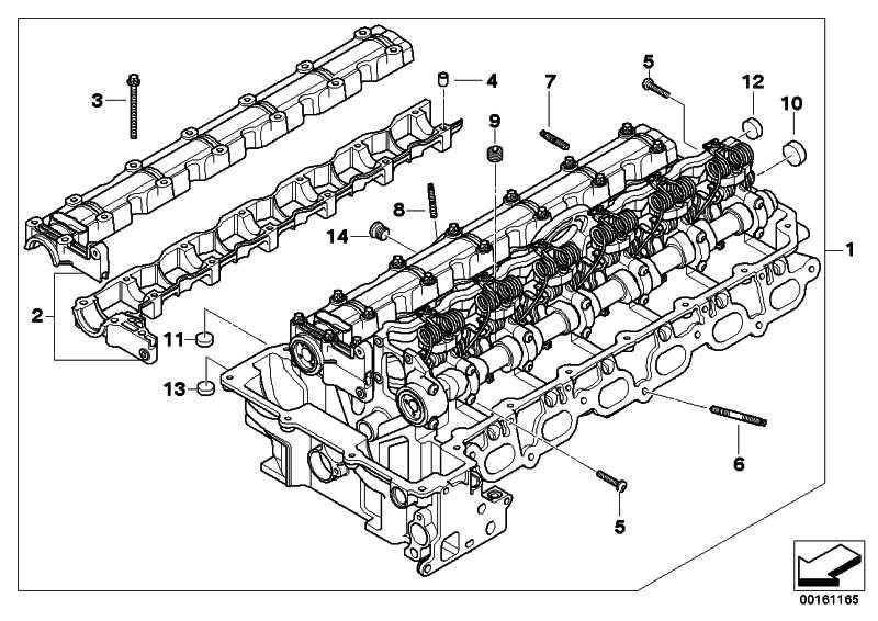 Zylinderkopf mit Ventiltrieb  3er 5er X3 Z4  (11127591618)