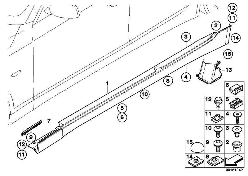 Abdeckung Schweller lackiert links CODE - UNI/MET. 5er  (51770422466)