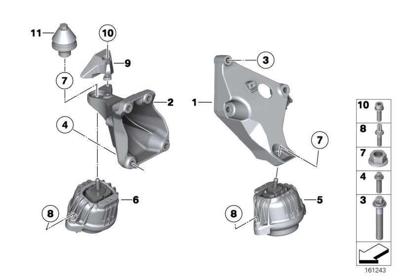 Motorlager links  1er 3er 4er 2er  (22116787657)
