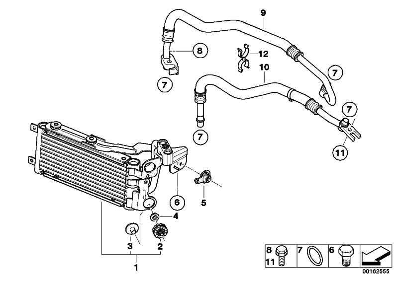Motorölkühlerleitung Vorlauf  3er  (17227567207)