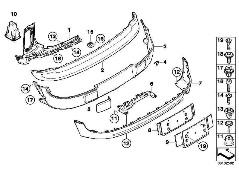 Abdeckung Stossfänger hinten lackiert CODE - UNI/MET. MINI  (51120442790)