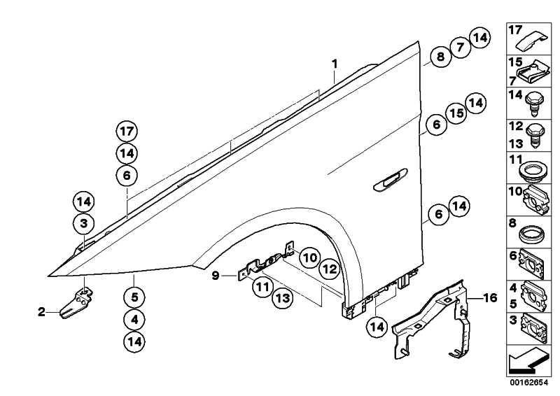 Gleitelement Wasserrinne/A-Säule  3er  (41317174887)