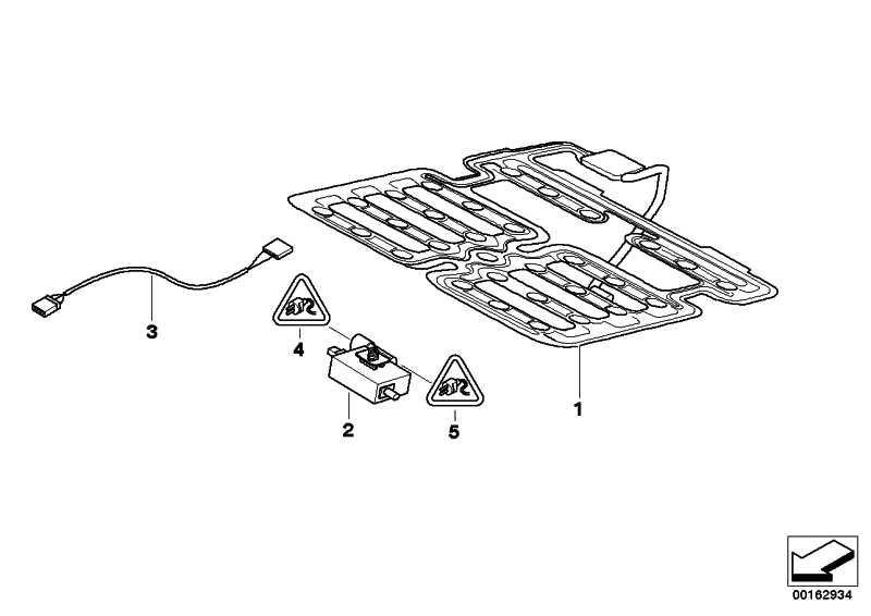 Sensormatte Beifahrersitzerkennung  Z4  (65777837724)